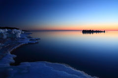 Baltic Sea at winter morning Stock Photo