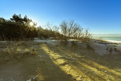 Baltic seacoast sun rays Stock Photography