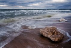 Baltic seascape at winter Stock Photo