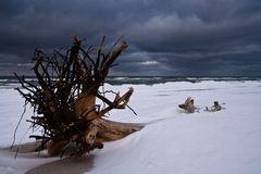 Baltic seascape at winter Stock Images