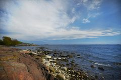 Baltic seashore in the summer Stock Photos