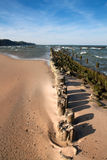Baltic Seaside. Landscape with old breakwater Stock Image