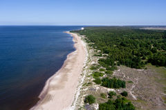 Baltic seaside. Lithuanian Baltic seaside from above Stock Image