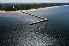 Baltic seaside. Lithuanian Baltic seaside from above Stock Photos