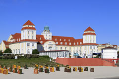 Baltic Seaside Resort in Binz at Ruegen, Baltic Sea, Germany. Baltic Seaside Resort in Binz at Ruegen Island, Mecklenburg-Western Pomerania, Germany, Europe Royalty Free Stock Photography