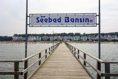 Baltic seaside resort Seebad Bansin Stock Photography