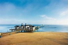 Baltic seaside resort Sellin Stock Photos