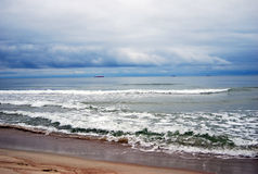 Baltic spit. View of the Baltic sea. Royalty Free Stock Image