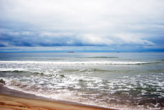 Baltic spit. View of the Baltic sea. Stock Photos