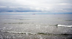 Baltic spit. View of the Baltic sea. Stock Photo