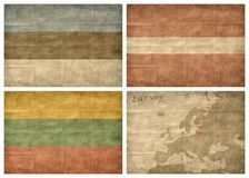 Baltic state flags stock photo