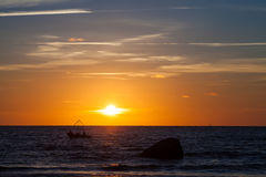 Baltic sunset Royalty Free Stock Photos