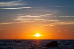 Baltic sunset Royalty Free Stock Image