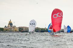 Baltic yacht week. Competitions yacht class J70 Stock Image