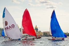 Baltic yacht week. Competitions yacht class J70 Stock Photo
