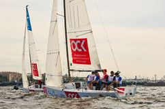 Baltic yacht week. Competitions yacht class J70 Royalty Free Stock Photo