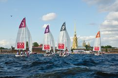 Baltic yacht week. Competitions yacht class J70 Royalty Free Stock Images