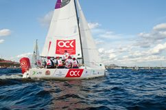 Baltic yacht week. Competitions yacht class J70 Stock Photos