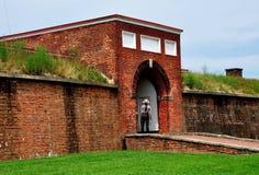 Baltimora, MD: McHenry forte Sally Port Entrance Immagini Stock Libere da Diritti