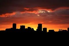 Baltimore bij zonsondergang Royalty-vrije Stock Afbeelding