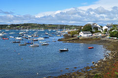 Baltimore Boats. A view of the coastal village of Baltimore, West Cork in Ireland royalty free stock photos