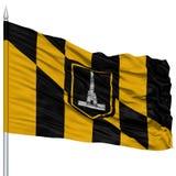 Baltimore City Flag on Flagpole, USA Royalty Free Stock Photography