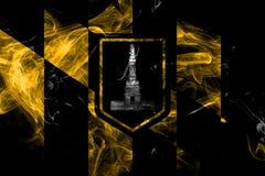 Baltimore city smoke flag, Maryland State, United States Of America stock illustration