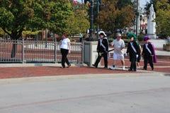 Baltimore die Christopher Columbus vieren dichtbij de Haven Stock Afbeeldingen