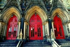 Baltimore, DM: Baías da porta na montagem Vernon Methodist Chruch imagem de stock