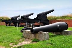 Baltimore, DM: Canhões no forte McHenry imagem de stock