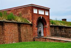 Baltimore, DM : Fort McHenry Sally Port Entrance Images libres de droits