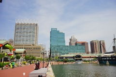 Baltimore downtown hotels stock photo