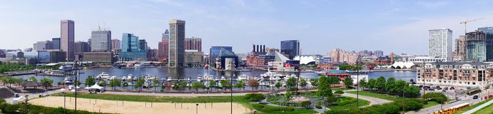 Baltimore downtown. Baltimore scenic area and downtown panorama royalty free stock images