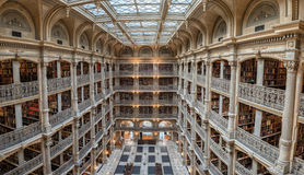 BALTIMORE, Etats-Unis - 23 juin 2016 l'intérieur de la bibliothèque de Peabody Photographie stock libre de droits