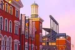 Baltimore, EUA - 31 de janeiro de 2014: O museu das legendas dos esportes em Camden Yards é um museu não lucrativo dos esportes e imagem de stock