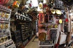 BALTIMORE, EUA - 21 de junho de 2016 - fim submarino do detalhe da opinião da guerra mundial do TORSK ii do interior acima fotos de stock royalty free