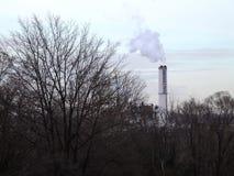 Baltimore fabriksskorsten BRESCO Arkivbilder