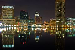 baltimore hamn inre maryland arkivfoto