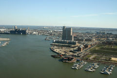 Baltimore harbor. The port of Baltimore royalty free stock images