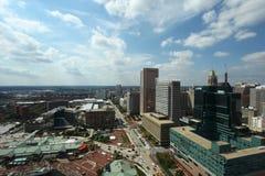 Baltimore Harbor sky line Stock Image