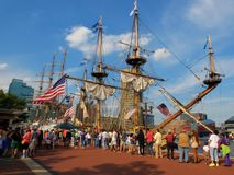 Baltimore Harbor tall ships Stock Images