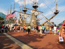 Baltimore Harbor tall ships Royalty Free Stock Photo