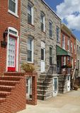 baltimore houses den maryland townen Arkivfoton