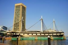 Baltimore i stadens centrum byggnad: internationell handelmitt Royaltyfria Bilder