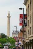 Baltimore im Stadtzentrum gelegen stockfotos