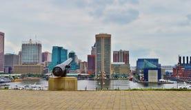 Baltimore im Stadtzentrum gelegen lizenzfreie stockbilder