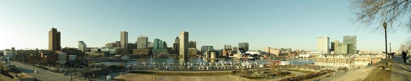 Baltimore Inner Harbor. Panorama of Baltimore Inner Harbor royalty free stock image