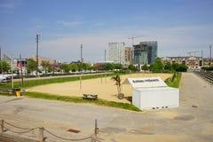 Baltimore inner harbor baseball field. Baltimore inner Harbor scenic area and downtown baseball field royalty free stock images