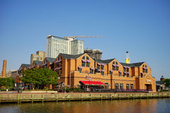 Baltimore inner Harbor building. Baltimore inner Harbor scenic area and downtown stock photos