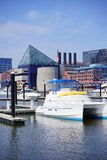Baltimore inner harbor dock. A park in Baltimore inner Harbor scenic area and boat dock royalty free stock photo
